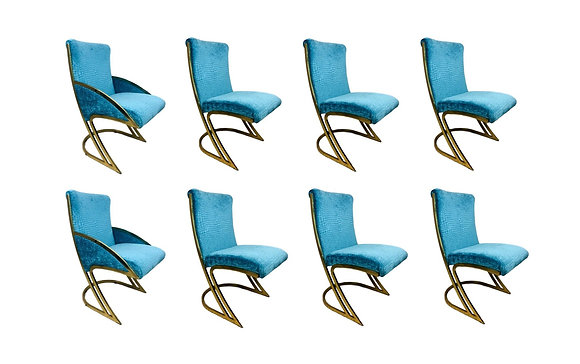 #5316 Set of 8 Pierre Cardin Dining Chairs