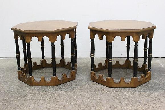 #863 Pr Octagonal Side Tables