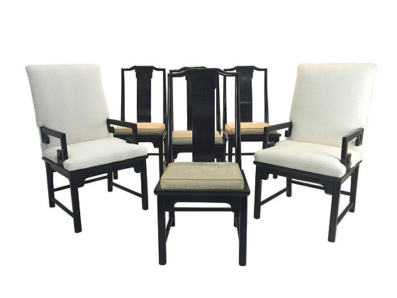 #1948 Set of 6 Asian Dining Chairs by Century