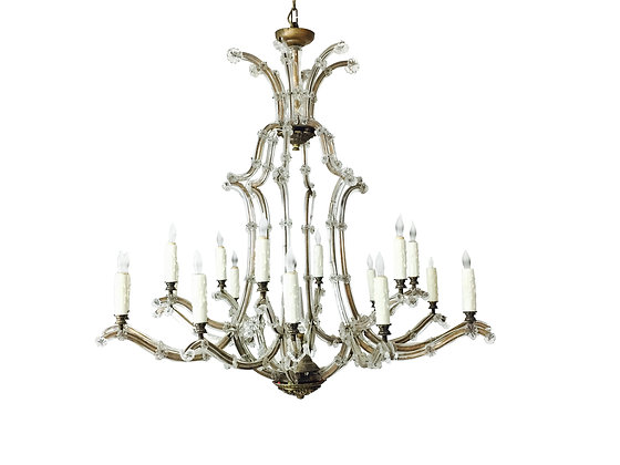 #2678 Maria Theresa Gilt & Sliver Glass Chandelier