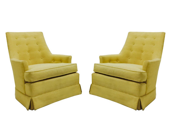 #2658 Pair of Button Back Regency Armchairs