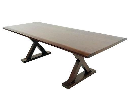 #5702 X-Base Mahogany Dining Table