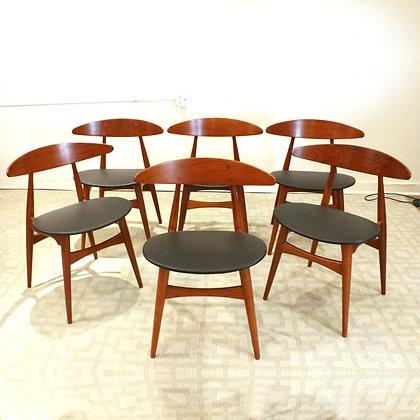 #8175 Set of 6 Hans Wegner Dining Chairs