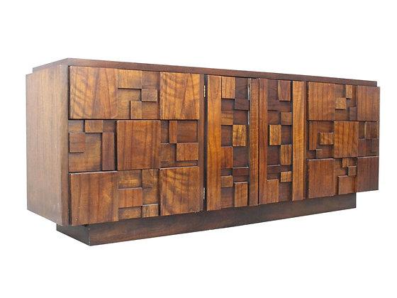 #1028 Brutalist Dresser by Lane Furniture