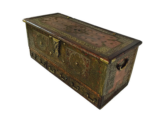 #2171 Large Moroccan Wedding Chest