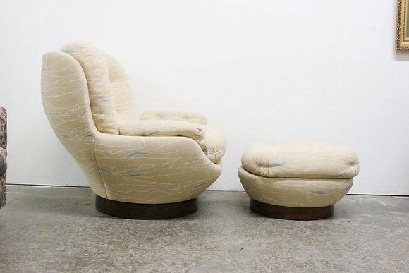 8846 Kagan Style Lounge & Ottoman