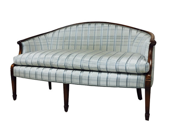 #2796 French Wood Wrapped Settee