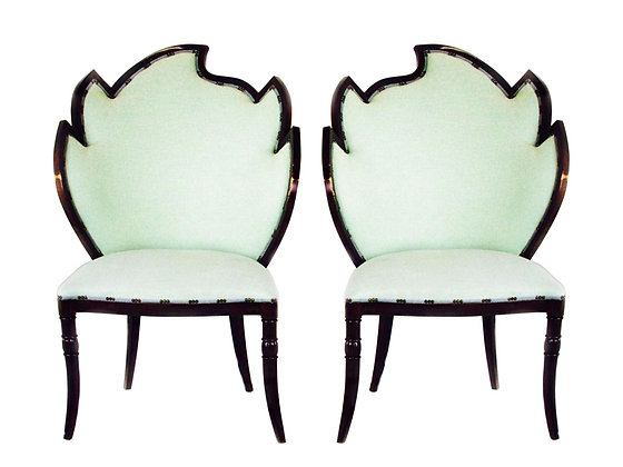 #3086 Pair Flame Chairs