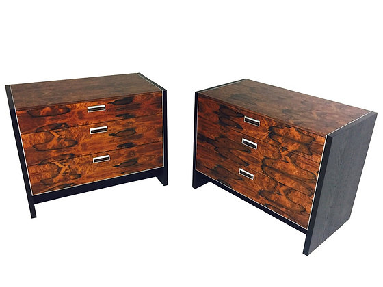 #2187 Pair Rosewood Chest/Nightstands