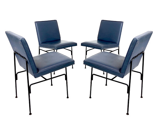#8424 Set of 4 Metal MOD Dining Chairs by Allan Gould