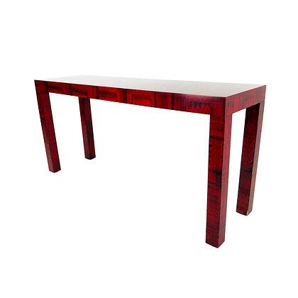 #5485 Red Faux Malachite Parsons Console