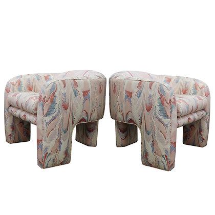#7297 Pair Vladimir Kagan Lounge Chairs