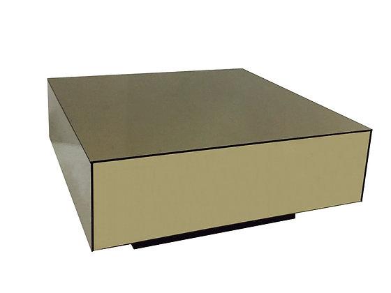 #2575 Milo Style Bronze Mirrored Coffee Table