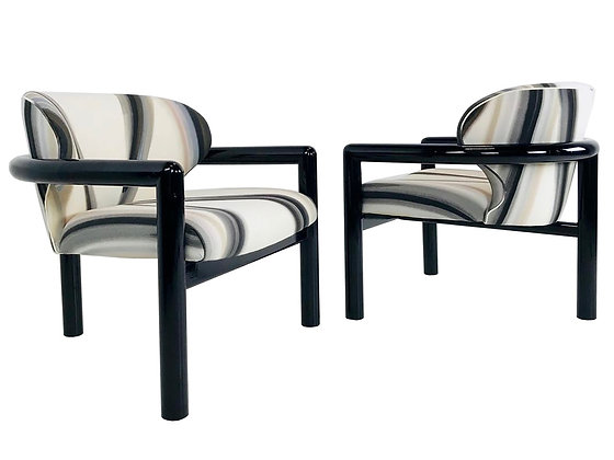 #3803 Pair Wearstler Style 3-Legged Chairs