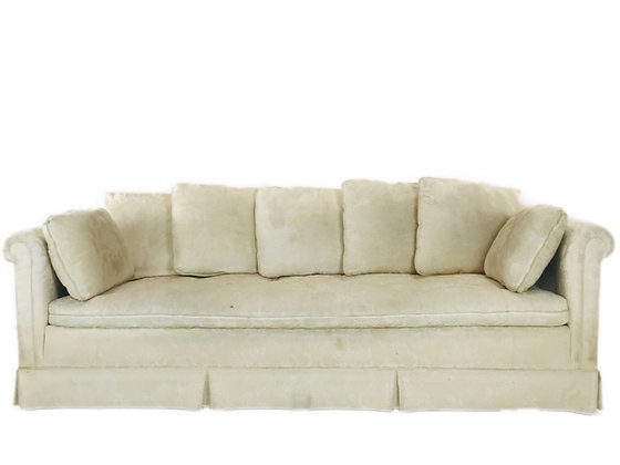 #4499 White Rolled Arm Sofa