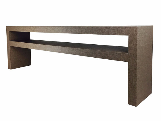 #3048 Custom Grasscloth Console Table