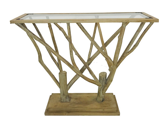 #3345 Tree Branch Console Table