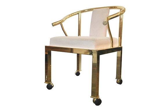#1138 Single Brass Ming Chair by DIA