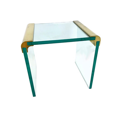#5358 Pace Brass Waterfall Side Table