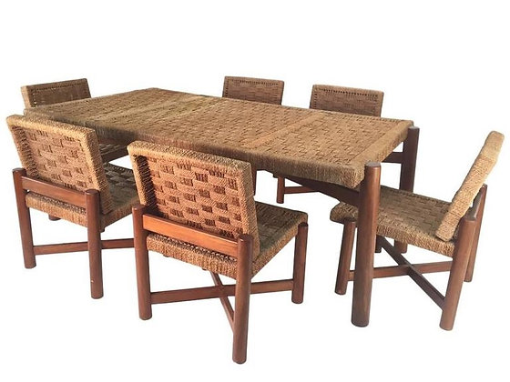 #1888 Woven Dining Set Style of Charlotte Perriand