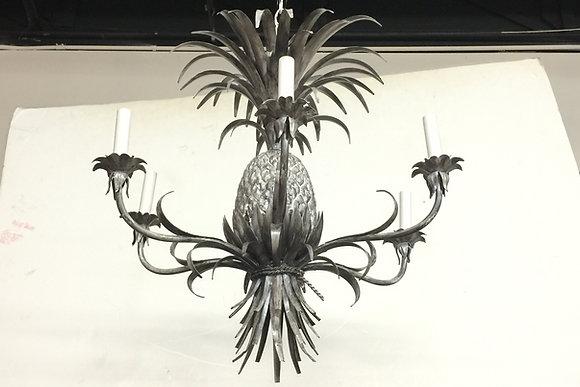 #1412 Silver Leaf Pineapple Chandelier