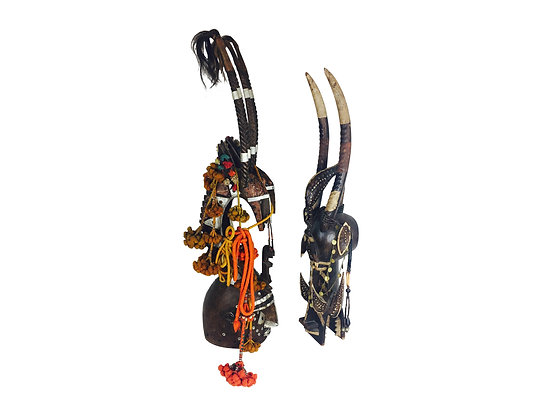 #2169 Pair African Tribal Mask