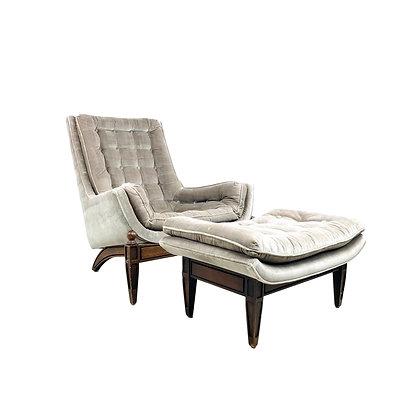 #5427 Mid-Century Modern Chair with Ottoman