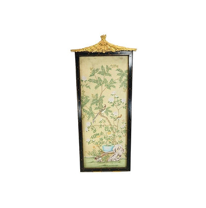 #5422 Monumental Chinoiserie Panel in Frame