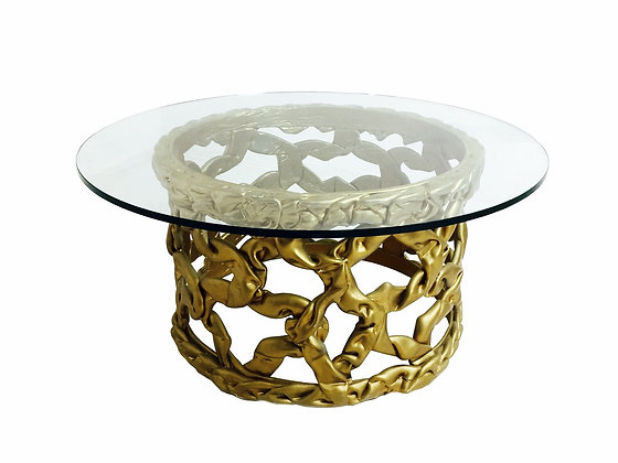 "#2807  Gold ""Ribbon"" Coffee Table by Tony Duquette Ribbon"