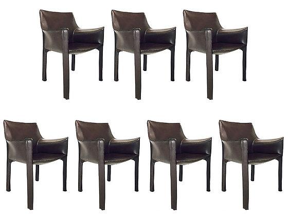 #2740 Mario Bellini Cab Leather Armchair ( 1 chair available)