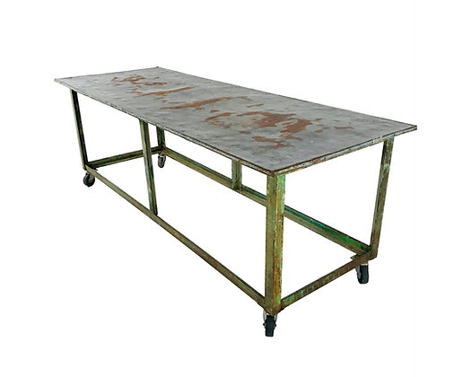 #5695 Vintage Industrial Display Table