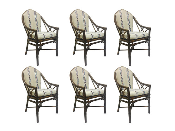 #2346 Set of 6 Gothic Dining Chairs by McGuire