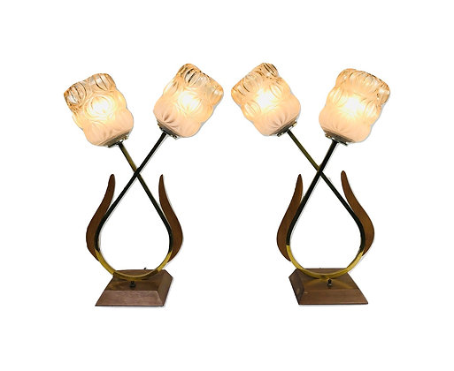 #4961 Pair Mid-Century Modern Table Lamps