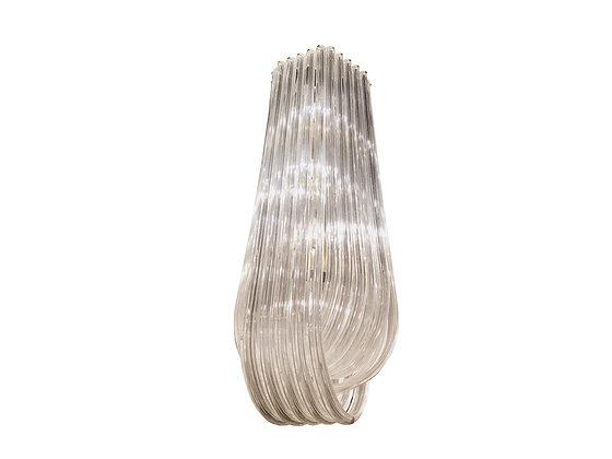 #3514 Monumental Lucite Ribbon Chandelier