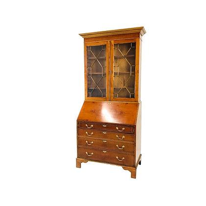 #5487 Chippendale Style Antique Secretary Desk/Hutch
