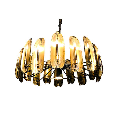 #5310 Large Tom Greene Brutalist Chandelier
