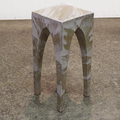 #7473 Ceramic Glazed Side Table