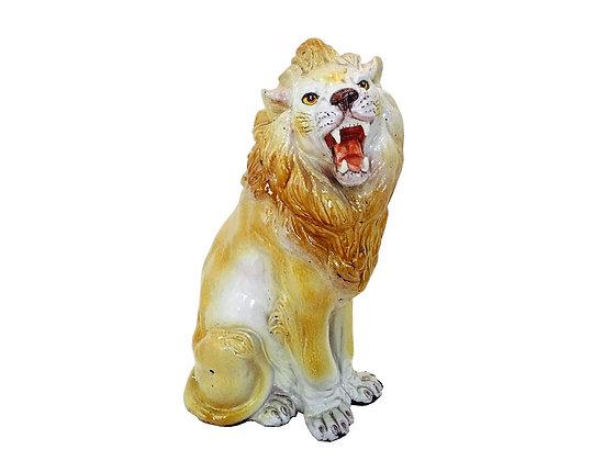 #7474 Glazed Ceramic Lion