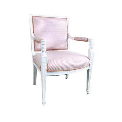 #5420 Single Pink Stripe Armchair