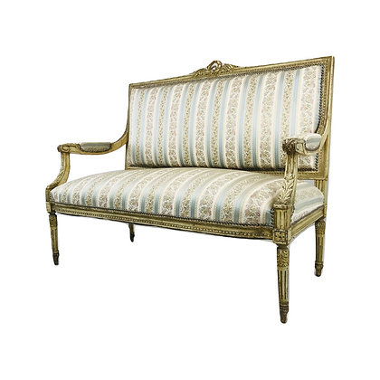 #4922 Gold Trim French Settee