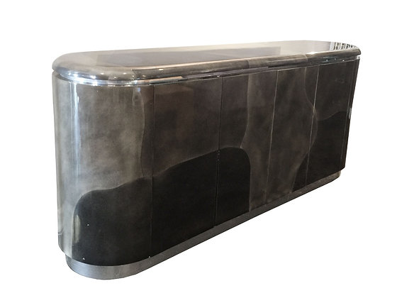 #3050 Faux Goat Skin Camouflage Race Track Credenza