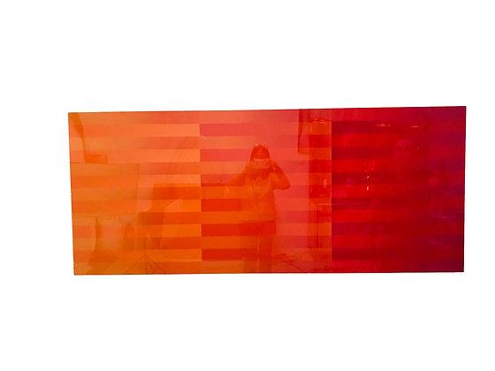 #5415 Red Gradient Modern Art