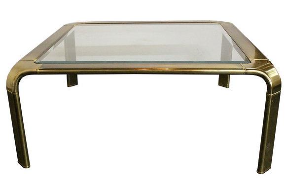 #866 Brass Waterfall Coffee Table by Widdicomb