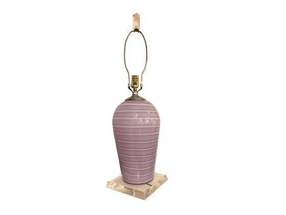 #2764 Purple Murano Lamp