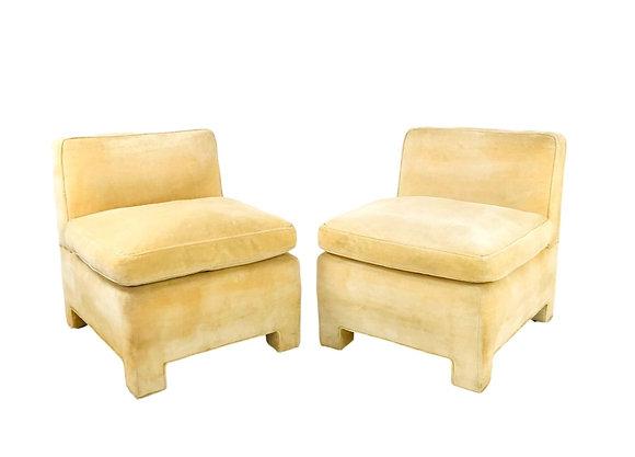 #5678 Pair of 1970's Slipper Chairs
