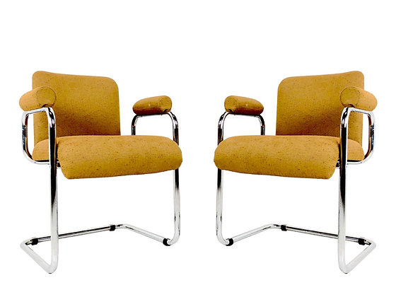 #810 Pair Occasional Chairs by Guido Falsechini