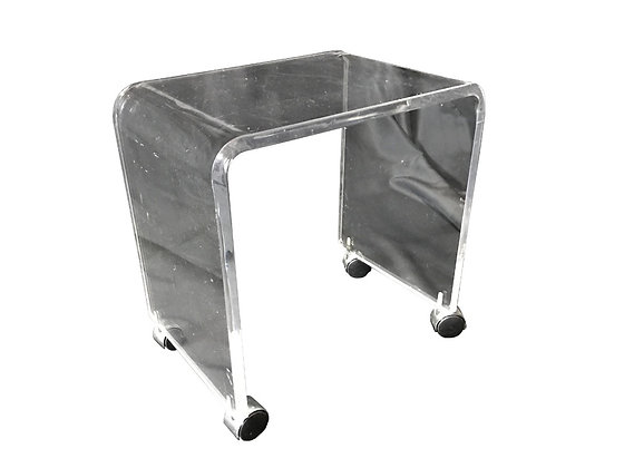 #2670 Lucite Side Table on Casters
