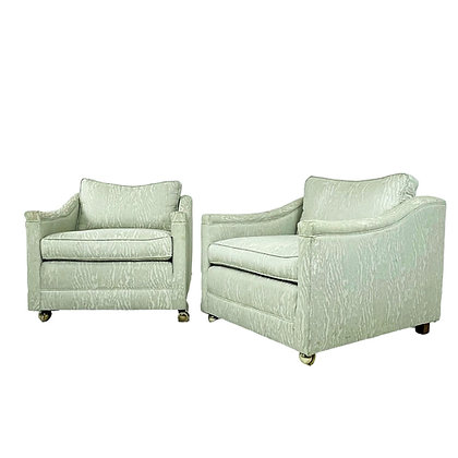 #5385 Pair of Hollywood Regency Lounge Chairs