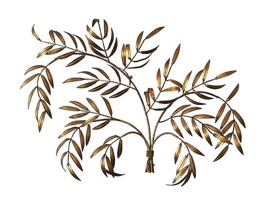 #2687 Brass Branch Wall Sculpture