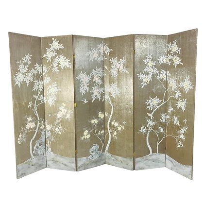 #4688 Hand Painted Asian Screen